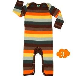 Brown stripe bodysuit by Smafolk