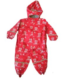 Ej sikke lej red owl print rain jacket and pants - Tootsie and Fudge