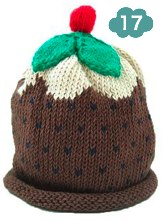 Merry Berry Christmas Pudding hat