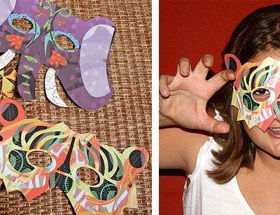 Last Minute Halloween: Printable Masks