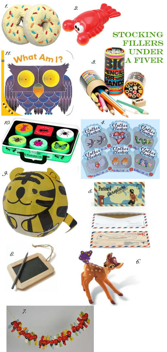 stocking fillers for under £5 for babies, toddlers, and preschoolers