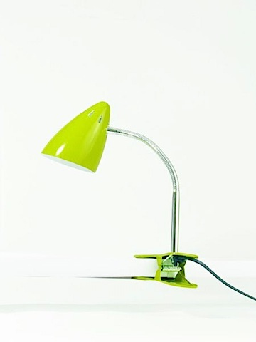 Retro Clip Lamp in Yellow