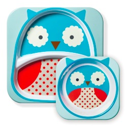 Skip Hop Melamine Plate & Bowl Set in Owl