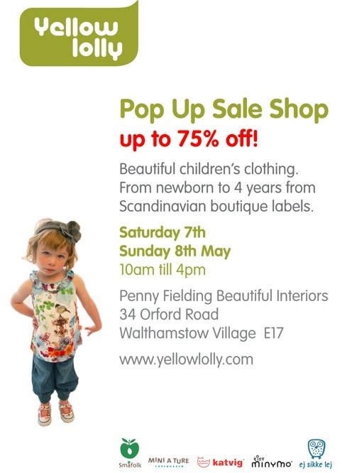 yellow lolly pop up sale shop