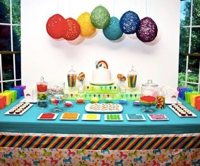 Inspiration: Yarn Balloons and Paper Lanterns for Party Decorations