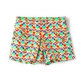 geometric print bermuda shorts