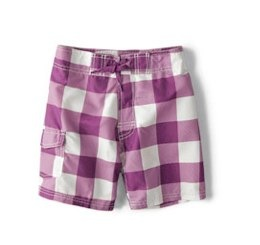 TWO-TONE CHECKED SWIMMING SHORTS