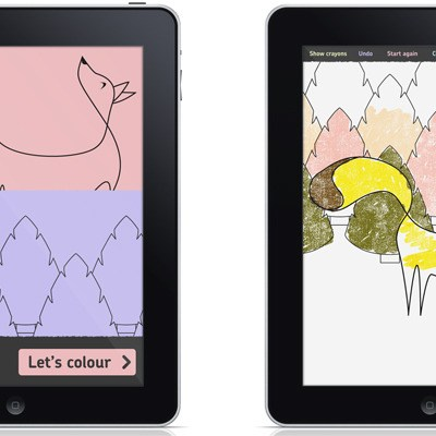Crayate iPad colouring app