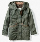 Parka coat with leather details by Zara Kids