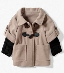 WOOLLEN CLOTH THREE QUARTER COAT WITH TOGGLE