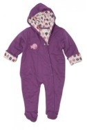 Green Baby organic pram suit - purple