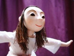 The puppet Isabella in Little Angel Theatre and the RSC's production of The Magician's Daughter