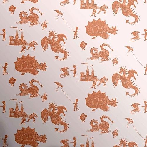 'ere-be-dragons' stone orange boys dragon wallpaper by Paperboy