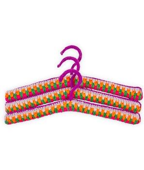 kids crochet coat hangers