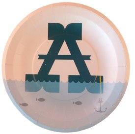 Alphabet party plates