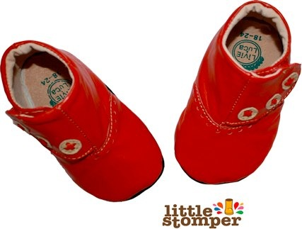 little stomper london red boots by Livie and Luca