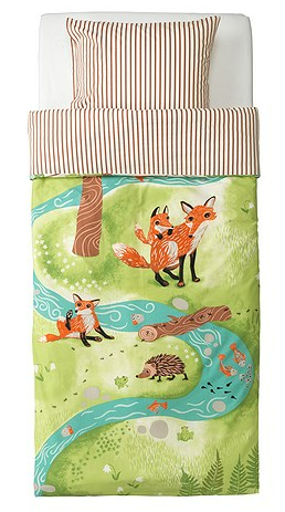 Fox bedding from Ikea