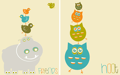 Friends and Hoot Prints