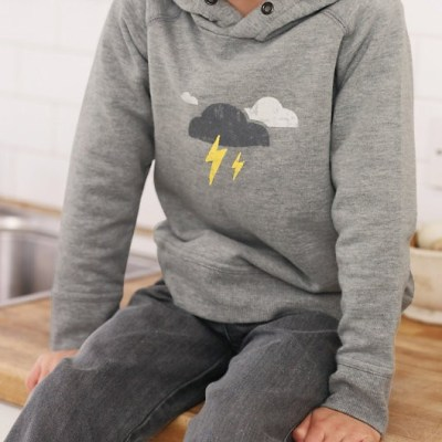 Hot on the high street: lightning hoodie at The Little White Company