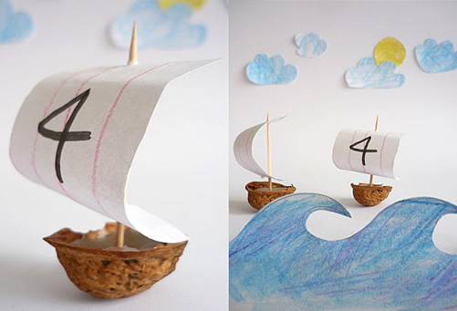 Walnut Shell Boats