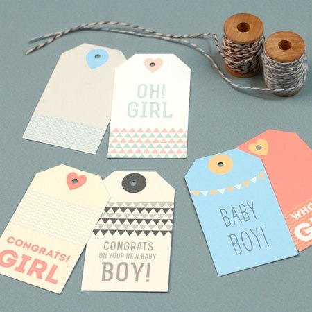 Love VS Design New Baby Gift Tags printables