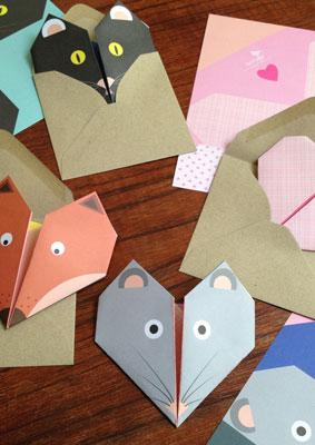 Lollipop Designs Animal Origami notecards