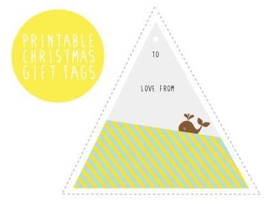 Free printable Christmas gift tags by Lulabird