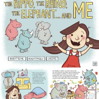The Hippo, the Rhino, the Elephant and Me iPad app