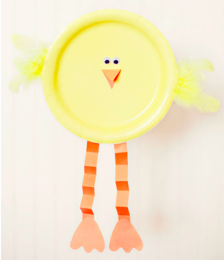 Paper plate Easter chick, Simple As That Blog