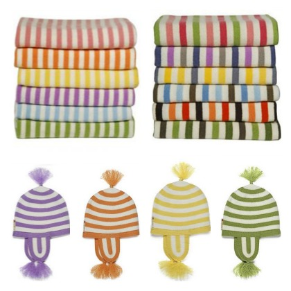 Ocabini Cashmere Baby Blankets and Hats