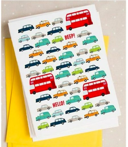 London Traffic Note cards by Caravan Shoppe