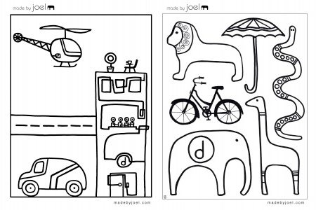 Made by Joel colouring sheets