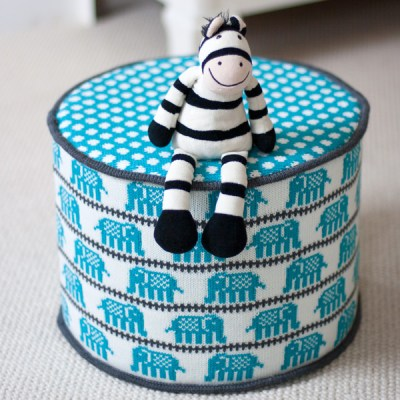 Erica Quincey knitted pouffes