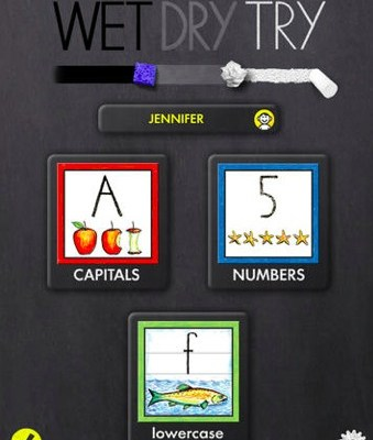 Cool app: Wet-Dry-Try now with lowercase letters