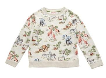 Hot on the high street: Cath Kidston safari sweatshirt