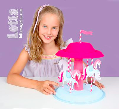 Lotta Magazine spinning carousel activity
