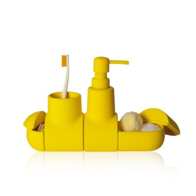 Submarine accessories set for the bathroom by Hector Serrano for Seletti