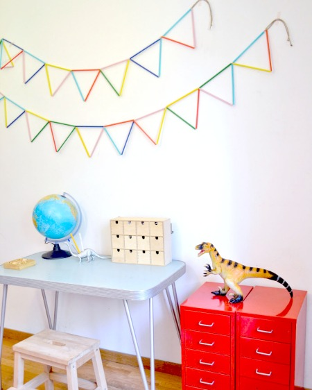 IKEA HACK - make your own straw bunting