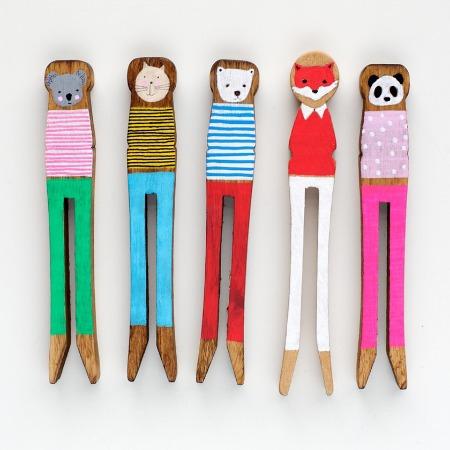 Porter Colline peg dolls