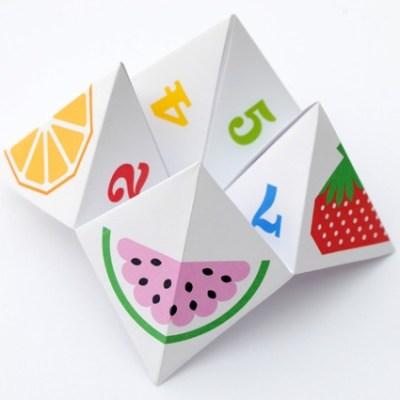 Make your own: Fruity fortune teller