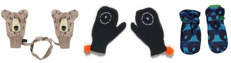 Nice mittens and gloves for children