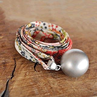 Liberty print bola necklaces from Blooming Lovely
