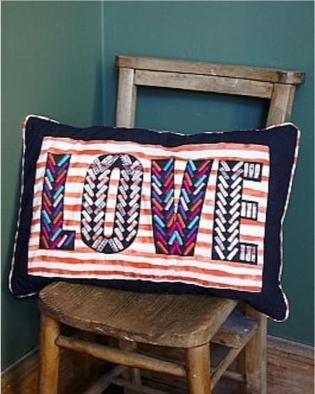 LOVE cushion at Plumo