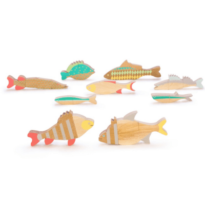 Eperfa wooden fish puzzles