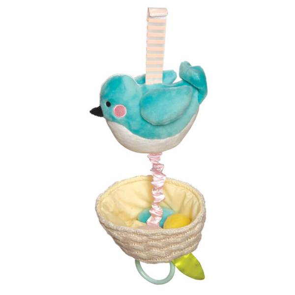 blue bird lullaby toy