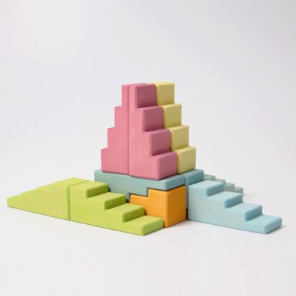 stepped roofs pastel Grimms
