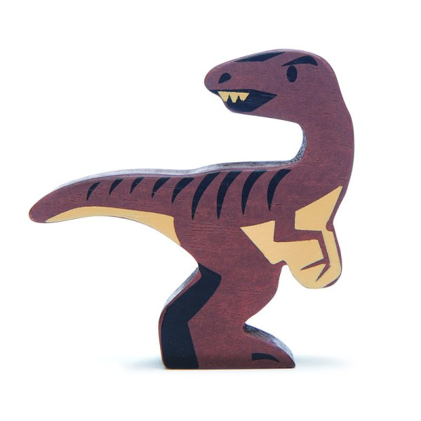 tender leaf wooden animals dinosaur velociraptor