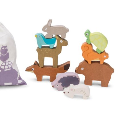 le toy van stacking forest petilou animals