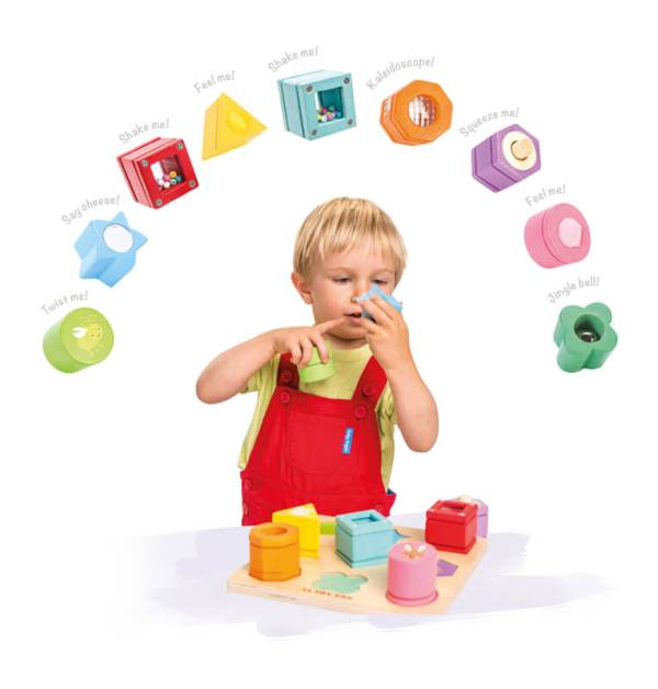 sensory puzzle le toy van wooden pieces