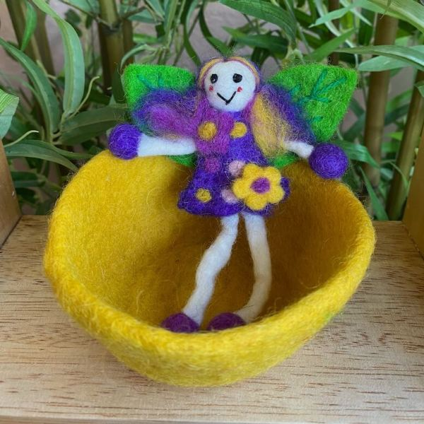 purple fairy in yellow bowl 1